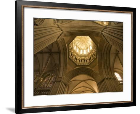 Detail of Octagonal Lantern Tower, Notre Dame Cathedral, Coutances, Cotentin, Normandy, France-Guy Thouvenin-Framed Art Print