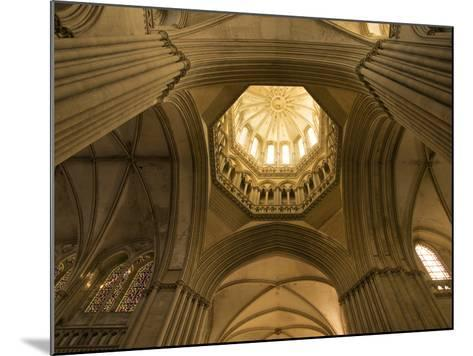 Detail of Octagonal Lantern Tower, Notre Dame Cathedral, Coutances, Cotentin, Normandy, France-Guy Thouvenin-Mounted Photographic Print