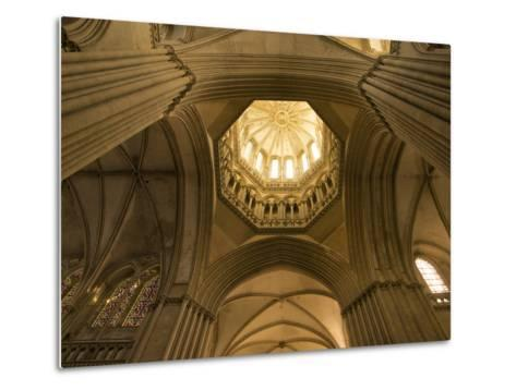 Detail of Octagonal Lantern Tower, Notre Dame Cathedral, Coutances, Cotentin, Normandy, France-Guy Thouvenin-Metal Print