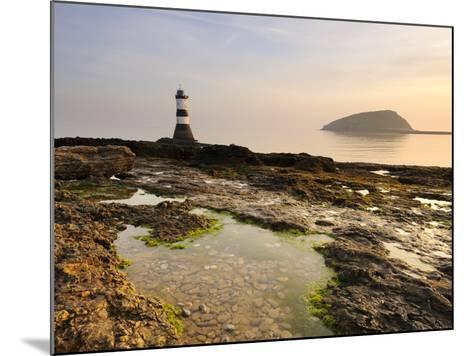 Dawn at Penmon Lighthouse, Penmon Point, Anglesey, North Wales, Wales, United Kingdom, Europe-Chris Hepburn-Mounted Photographic Print