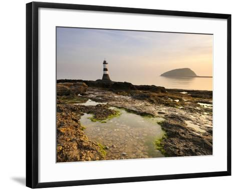 Dawn at Penmon Lighthouse, Penmon Point, Anglesey, North Wales, Wales, United Kingdom, Europe-Chris Hepburn-Framed Art Print