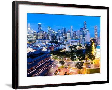 The Buddha Tooth Relic Temple and Central Business District (Cbd), Chinatown, Singapore-Matthew Williams-Ellis-Framed Art Print