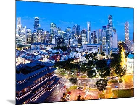 The Buddha Tooth Relic Temple and Central Business District (Cbd), Chinatown, Singapore-Matthew Williams-Ellis-Mounted Photographic Print