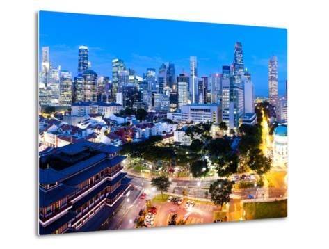 The Buddha Tooth Relic Temple and Central Business District (Cbd), Chinatown, Singapore-Matthew Williams-Ellis-Metal Print