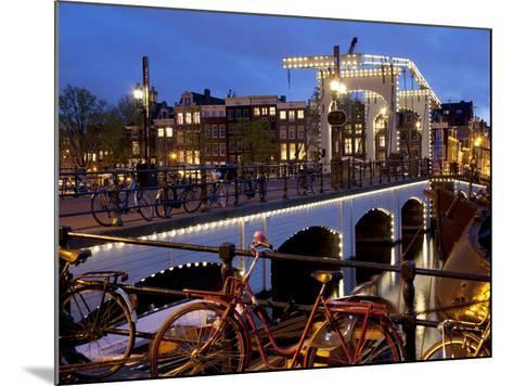 Magere Brug (Skinny Bridge) at Dusk, Amsterdam, Holland, Europe-Frank Fell-Mounted Photographic Print