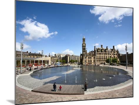 City Park Pool and City Hall, City of Bradford, West Yorkshire, England-Mark Sunderland-Mounted Photographic Print