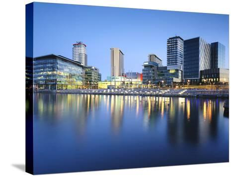 Dawn at Mediacity Uk Home of the Bbc, Salford Quays, Manchester, Greater Manchester, England, UK-Chris Hepburn-Stretched Canvas Print
