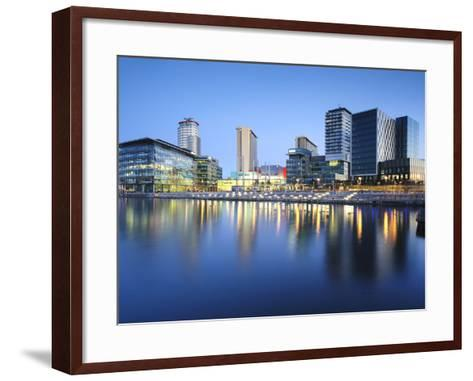 Dawn at Mediacity Uk Home of the Bbc, Salford Quays, Manchester, Greater Manchester, England, UK-Chris Hepburn-Framed Art Print