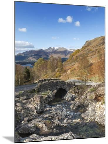 Ashness Bridge and Barrow Beck, Derwent Water and Skiddaw, Lake District Nat'l Park, England-Chris Hepburn-Mounted Photographic Print