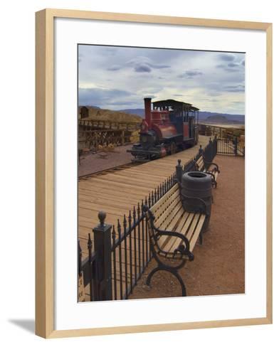 Old Train in a Ghost Town, Calico, Yermo, Mojave Desert, California, USA, North America-Antonio Busiello-Framed Art Print