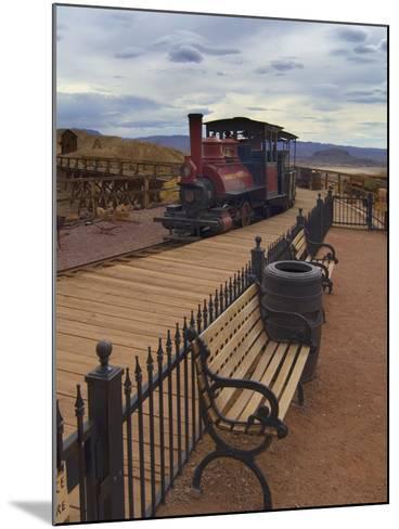 Old Train in a Ghost Town, Calico, Yermo, Mojave Desert, California, USA, North America-Antonio Busiello-Mounted Photographic Print