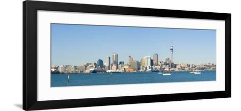 Panorama of the Auckland City Skyline, Auckland, North Island, New Zealand, Pacific-Matthew Williams-Ellis-Framed Art Print