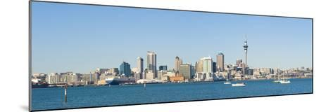 Panorama of the Auckland City Skyline, Auckland, North Island, New Zealand, Pacific-Matthew Williams-Ellis-Mounted Photographic Print