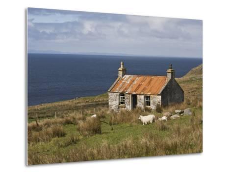 Abandoned Croft, Wester Ross, Highlands, Scotland, United Kingdom, Europe-Jean Brooks-Metal Print
