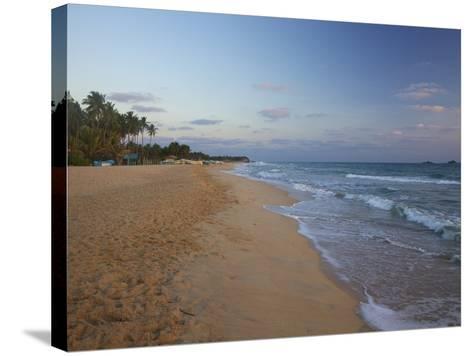 Sunrise on Nilaveli Beach, Trincomalee, Sri Lanka, Asia-Peter Barritt-Stretched Canvas Print