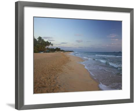 Sunrise on Nilaveli Beach, Trincomalee, Sri Lanka, Asia-Peter Barritt-Framed Art Print