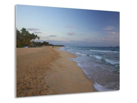 Sunrise on Nilaveli Beach, Trincomalee, Sri Lanka, Asia-Peter Barritt-Metal Print