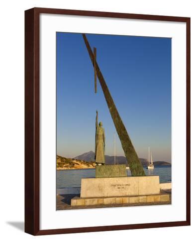 Statue of Pythagoras (Greek Philosopher and Mathematician), Pythagorion, Samos, Greece-Stuart Black-Framed Art Print
