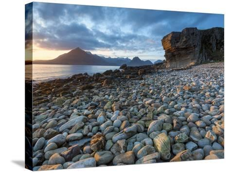 Sunset at Elgol Beach on Loch Scavaig, Cuillin Mountains, Isle of Skye, Scotland-Chris Hepburn-Stretched Canvas Print