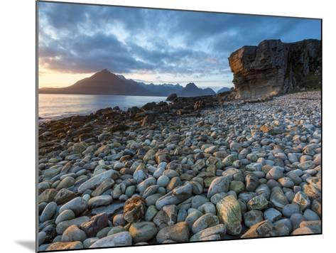 Sunset at Elgol Beach on Loch Scavaig, Cuillin Mountains, Isle of Skye, Scotland-Chris Hepburn-Mounted Photographic Print