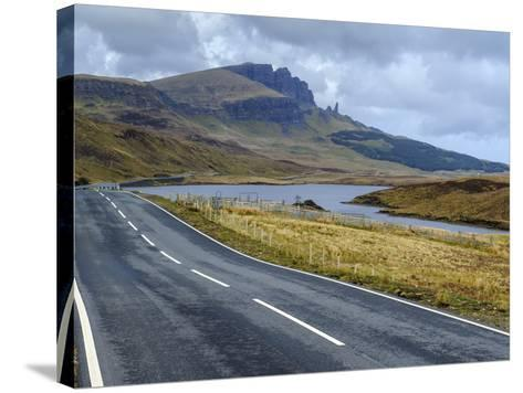 Road to Old Man of Storr Mountain, Trotternish Peninsula, Isle of Skye, Inner Hebrides, Scotland-Chris Hepburn-Stretched Canvas Print