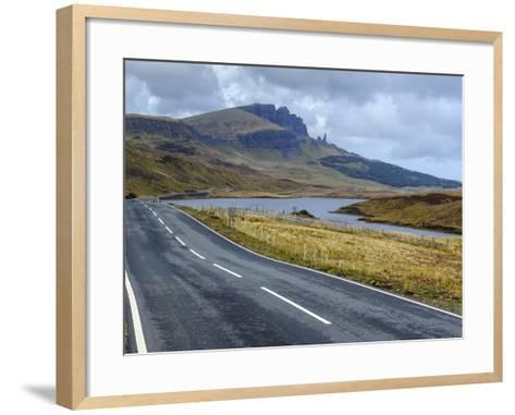 Road to Old Man of Storr Mountain, Trotternish Peninsula, Isle of Skye, Inner Hebrides, Scotland-Chris Hepburn-Framed Art Print