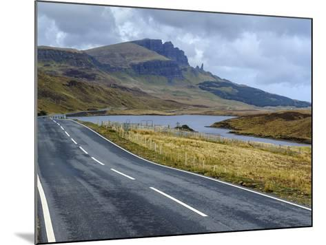 Road to Old Man of Storr Mountain, Trotternish Peninsula, Isle of Skye, Inner Hebrides, Scotland-Chris Hepburn-Mounted Photographic Print