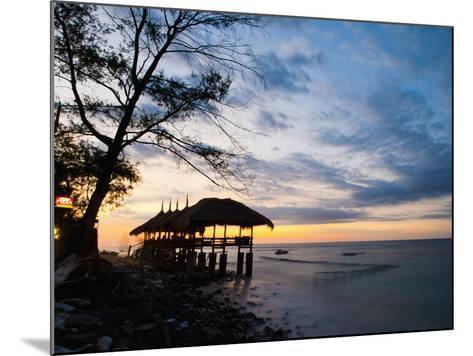 Restaurant on the Beach at Sunset, Gili Trawangan, Gili Islands, Indonesia, Southeast Asia, Asia-Matthew Williams-Ellis-Mounted Photographic Print