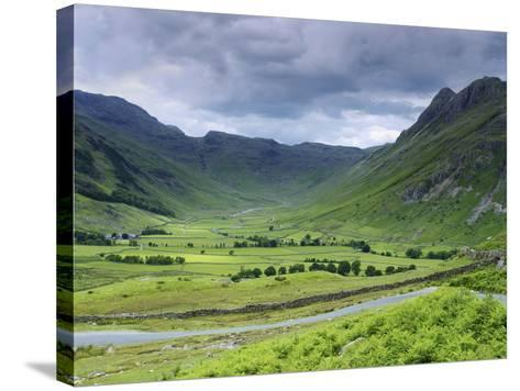 Langdale Pikes, Lake District National Park, Cumbria, England, United Kingdom, Europe-Jeremy Lightfoot-Stretched Canvas Print