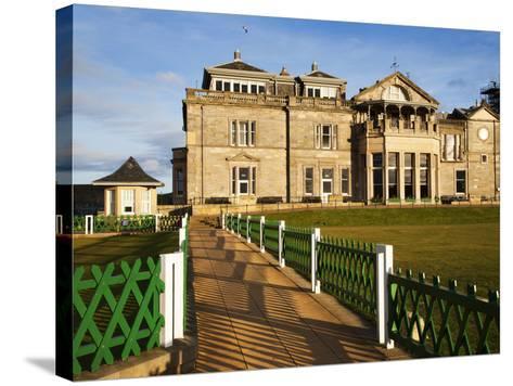 Royal and Ancient Golf Club, St. Andrews, Fife, Scotland, United Kingdom, Europe-Mark Sunderland-Stretched Canvas Print