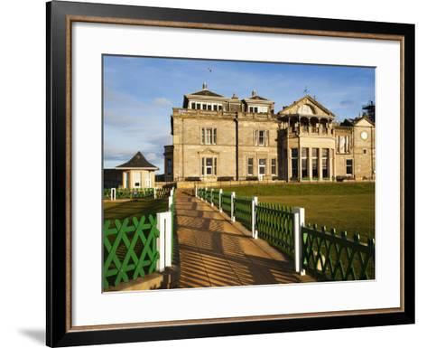 Royal and Ancient Golf Club, St. Andrews, Fife, Scotland, United Kingdom, Europe-Mark Sunderland-Framed Art Print