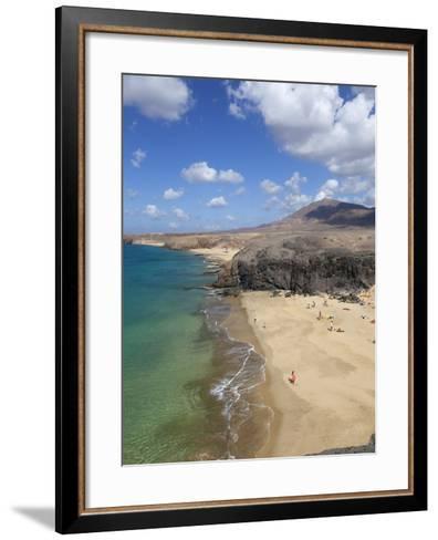 Playa del Papagayo, Near Playa Blanca, Lanzarote, Canary Islands, Spain-Stuart Black-Framed Art Print