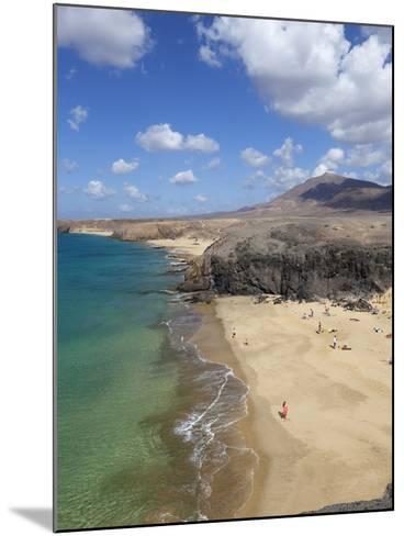 Playa del Papagayo, Near Playa Blanca, Lanzarote, Canary Islands, Spain-Stuart Black-Mounted Photographic Print