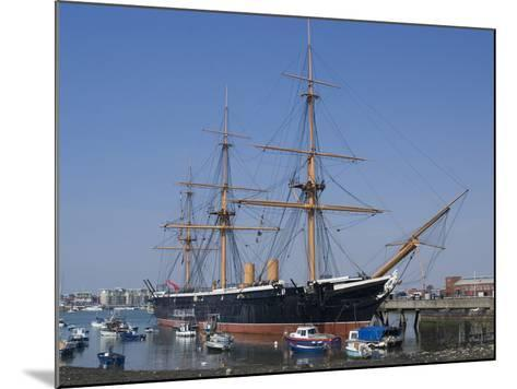 HMS Warrior, 1st Armour-Plated Iron-Hulled Warship, Built for Royal Navy 1860, Portsmouth, England-Ethel Davies-Mounted Photographic Print
