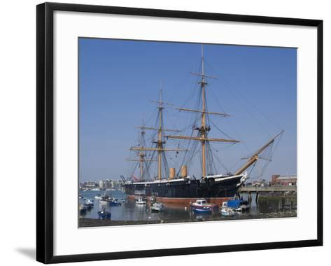HMS Warrior, 1st Armour-Plated Iron-Hulled Warship, Built for Royal Navy 1860, Portsmouth, England-Ethel Davies-Framed Art Print