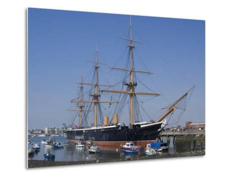 HMS Warrior, 1st Armour-Plated Iron-Hulled Warship, Built for Royal Navy 1860, Portsmouth, England-Ethel Davies-Metal Print