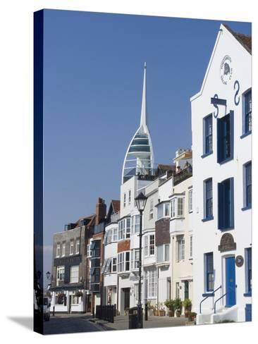Old Portsmouth with the Spinnaker Tower Behind, Portsmouth, Hampshire, England, UK, Europe-Ethel Davies-Stretched Canvas Print