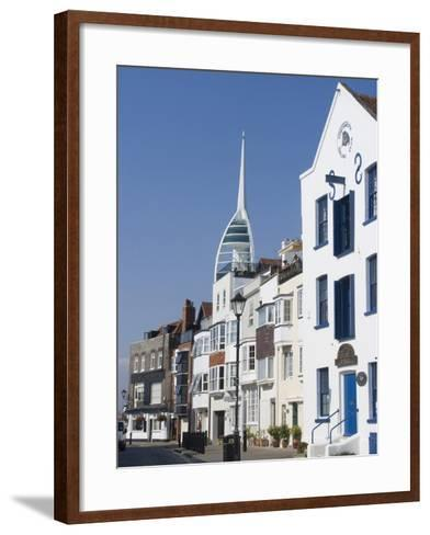 Old Portsmouth with the Spinnaker Tower Behind, Portsmouth, Hampshire, England, UK, Europe-Ethel Davies-Framed Art Print
