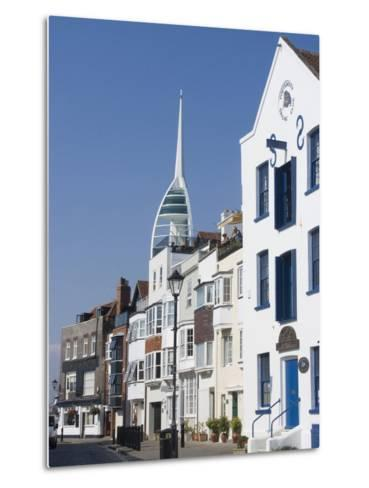 Old Portsmouth with the Spinnaker Tower Behind, Portsmouth, Hampshire, England, UK, Europe-Ethel Davies-Metal Print