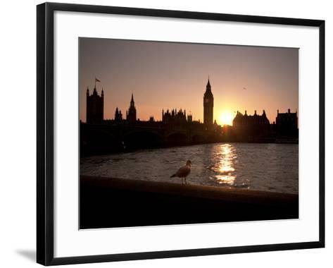 Westminster Bridge, Houses of Parliament, and Big Ben, UNESCO World Heritage Site, London, England-Sara Erith-Framed Art Print