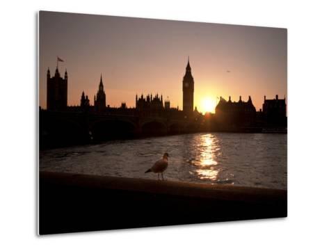 Westminster Bridge, Houses of Parliament, and Big Ben, UNESCO World Heritage Site, London, England-Sara Erith-Metal Print