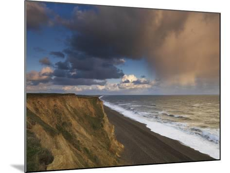A Rain Cloud Approaches the Cliffs at Weybourne, Norfolk, England-Jon Gibbs-Mounted Photographic Print