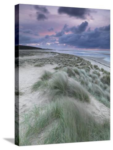 A Moody Spring Evening at Holkham Bay, Norfolk-Jon Gibbs-Stretched Canvas Print