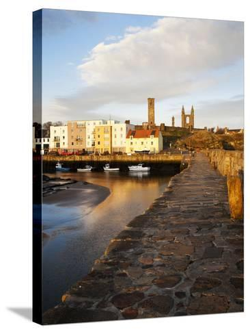 The Harbour at Dawn, St Andrews, Fife, Scotland-Mark Sunderland-Stretched Canvas Print