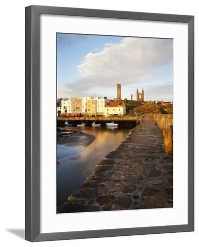 The Harbour at Dawn, St Andrews, Fife, Scotland-Mark Sunderland-Framed Art Print