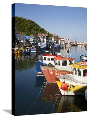 Fishing Boats in the Harbour, Scarborough, North Yorkshire, Yorkshire, England, UK, Europe-Mark Sunderland-Stretched Canvas Print