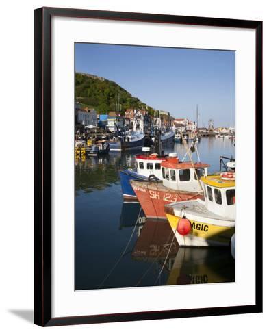 Fishing Boats in the Harbour, Scarborough, North Yorkshire, Yorkshire, England, UK, Europe-Mark Sunderland-Framed Art Print