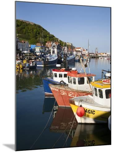 Fishing Boats in the Harbour, Scarborough, North Yorkshire, Yorkshire, England, UK, Europe-Mark Sunderland-Mounted Photographic Print