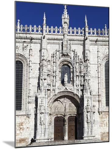 Main Entrance with Carving of Henry Navigator, UNESCO World Heritage Site, Belem, Lisbon, Portugal-Stuart Black-Mounted Photographic Print