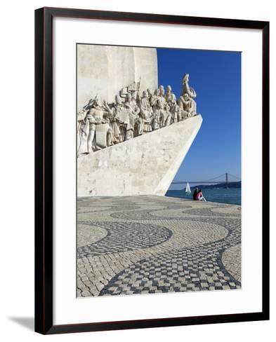 Monument to the Discoveries, Belem, Lisbon, Portugal, Europe-Stuart Black-Framed Art Print